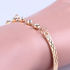 Charm Women Crystal Rhinestone Gold Plated  Bracelet Bangle Jewelry Gift