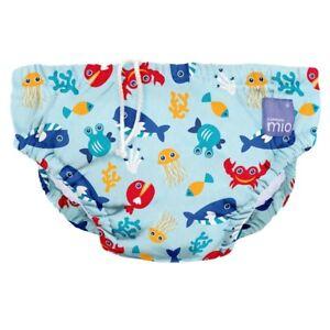 NEW Deep Sea Blue Design Reusable Baby Swim Nappy Large by Bambino Mio