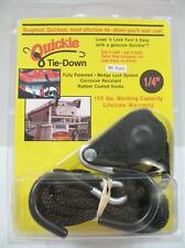 """Quickie Tie-Down 8' x 1/4"""" Original Rope Pulley 150lb Load Military Certified"""