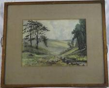 Original Water Colour Unknown Landscape By B David Art Dealer B Weston Cardiff