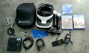 Ps4 Playstation Vr bundle + Case, Rush Of Blood, FarPoint, and Move controllers