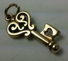 Jame Avery 14k gold charm Key to my HEART. Lowest on Ebay