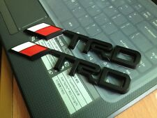 2X Black 3D TRD Sports emblem Rear Boot ABS Car Badge Logo for Camry Corolla