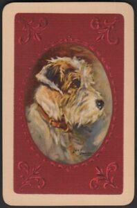 Playing Cards 1 Single Card Old WIRE HAIRED FOX TERRIER DOG Dawson Art Painting