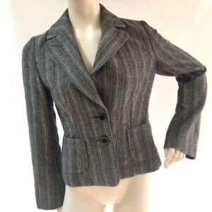 Banana Republic Womens Size 6 Gray and Lavender Blazer Career Work Jacket