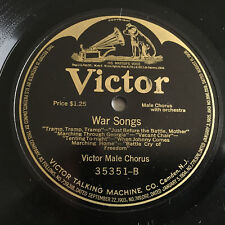 """WAR Songs Military 1920s 12"""" VICTOR 78 rpm Victrola Record Male Chorus SEA SONGS"""