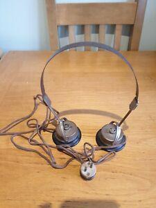 Rare DR NESPER German WW2 Era Headphones