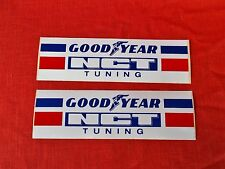 2 GOODYEAR NCT TUNING RALLY RACING TEAM benelux europe decal sticker  8  INCH