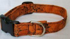 Halloween Spider Web Orange Cat Dog Pet Collar CUSTOM MADE Adjustable CUTE!