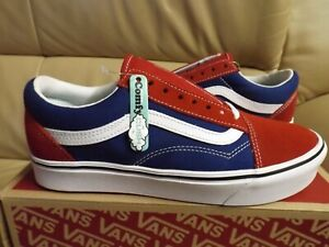 Vans Comfycush Old Skool Men's Size 10.5 Shoes (Two Tone) Red/Blue VN0A3WMAVX1