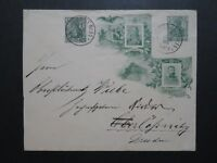 Germany 1906 Wilhelm / Fiedrich Green Cacheted Stationery / Used - Z10219