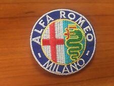 TOPPA ALFA ROMEO MILANO PATCH RICAMATO TERMOADESIVO DIAMETRO CM 6