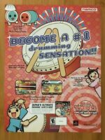 Taiko Drum Master PS2 Playstation 2 2004 Vintage Poster Ad Art Print Official