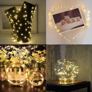 1/3 Christmas 10/20 LED Micro Wire Copper String Lights Gift Fairy Wedding Party