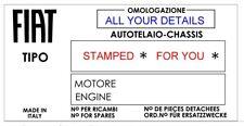 plaques BMC Austin Princess Morris BMC Rover plaque châssis tout-BLANK-vin-Châssis