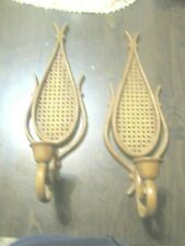 Vintage Pair Wall Candle Sconce Plastic
