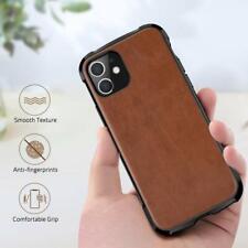 iPhone 11 Case Premium PU Leather Drop Proof Bumper Shockproof Resistant Brown