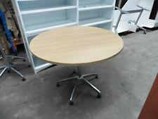 OFFICE 1000MM BEECH ROUND TABLE BRISBANE