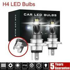 2Pcs Combo LED Mini H4 Headlight Kit High Low Beam 120W 6000K 30000LM FOG Bulbs