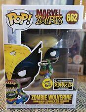Funko Pop! Zombie Wolverine #662 Glow In The Dark EE Exclusive + Protector