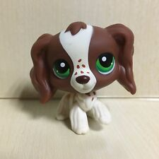 Littlest Pet Shop LPS Toys #156 Green Eye Brown Spaniel Cocker Dog Figure