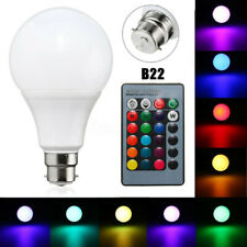 B22 20W Dimmable RGB 16 Colour Changing LED Light Lamp Bulb Remote Control  H