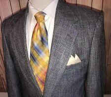 Sterling & Hunt Silk Gray Blue Weave Blazer Jacket Coat Sz 38R