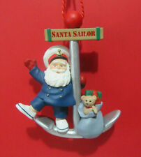 Hallmark Santa Sailor on Anchor Nautical Ed Seale '91 Hanging Loose Ornament