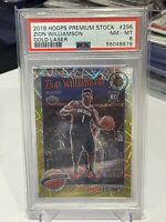 2019 NBA Hoops Premium Stock Zion Williamson Gold Laser /10 PSA 8 RC