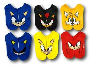 NEW Sonic the Hedgehog 6-Pack Socks for Boys SIZE LARGE 3-9