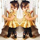 Fashion Kids Baby Girls Toddler Shirt Dress + Legging Pants Set Clothes Outfits