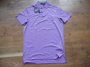 NWT Ralph Lauren RLX Golf Shirt Polo Purple Waste Management Open Size S