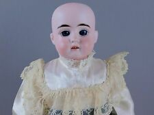 "18"" Bisque Doll Signed EU St. Edmund Ulrich Steiner Fixed Blue Eyes Leather Body"