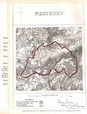 Westbury.Boundary Commissioners report.1868.Wiltshire.Map .Antique