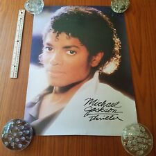 Vintage Michael Jackson Thriller Poster Close Up Face Black And White Clothes