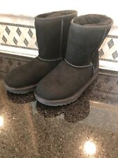 Unisex Kids UGG Classic II Black Boots- Size 4- #1017703