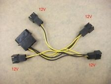 x2 4Pin Molex to 4x12V Fan Socket Adapter Cable Adaptor Wire 354-002