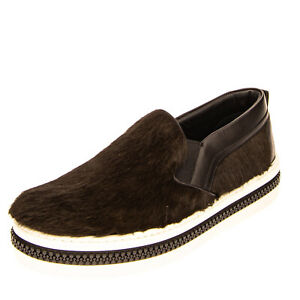 RRP €705 SERGIO ROSSI Calf Hair & Leather Sneakers EU 42 UK 8 US 9 Made in Italy