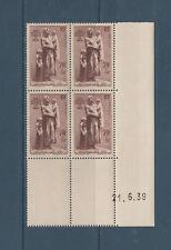 timbre France bloc de 4 coin daté aux marins perdues en mer  num: 447 **