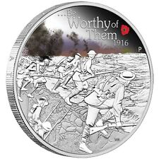 2016 The ANZAC Spirit - Be Worthy of Them 1oz Silver Proof Coin