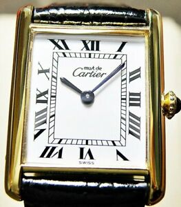 Cartier/Gold Plated on Bronze Case/Hand- Winding/Old fashioned Men's model Watch