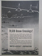 4/1947 PUB PRATT & WHITNEY HAMILTON STANDARD DOUGLAS SKYMASTER OCEAN ORIGINAL AD