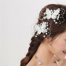Bride Headdress Flower Butterfly Hair Clip Wedding Dress Accessories Jewelry