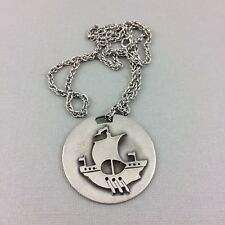 Gaelic Galley Boat Ship Aitkens Pewter Pendant Necklace New Brunswick Canada