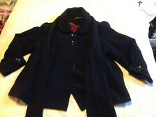 Ladies Black Jacket Size 12 Swing Style With Scarf.