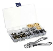 480Pcs Rivets Double Cap Tool Kit Metal Studs Leather Clothes DIY Craft NEW