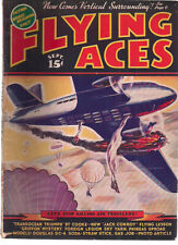 FLYING ACES Pulp Magazine September 1938 Schomburg Al McWilliams Phineas