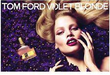 PUBLICITE ADVERTISING  2009  TOM FORD  parfum VIOLET BLONDE ( 2 pages)