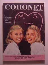 CORONET February 1959 DOUGLAS GORSLINE TWINS LONDON JACQUES PREVERT RED BUTTONS
