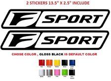 (#509) Lexus F SPORT DOOR Vinyl Decal Stickers (any Color) Set Of 2
